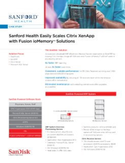 Sanford Health Easily Scales Citrix XenApp with Fusion ioMemory Solutions
