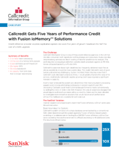 CallCredit Gets Five Years of Performance Credit with Fusion ioMemory Solutions