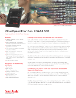 CloudSpeed Eco™ Gen. II SATA SSD